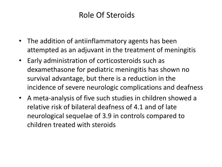 Role Of Steroids