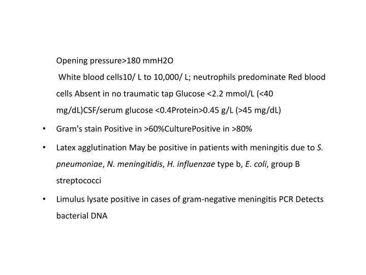 Opening pressure>180 mmH2O