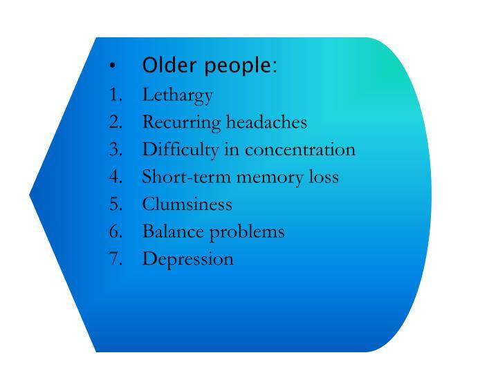Older people: