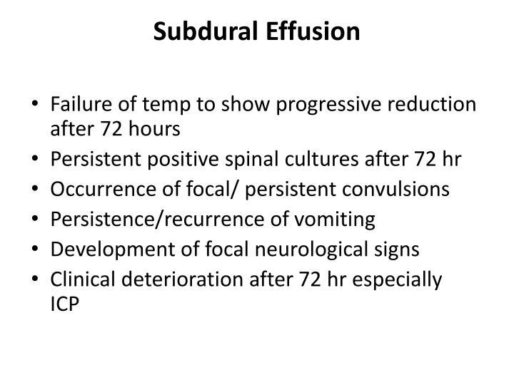 Subdural Effusion