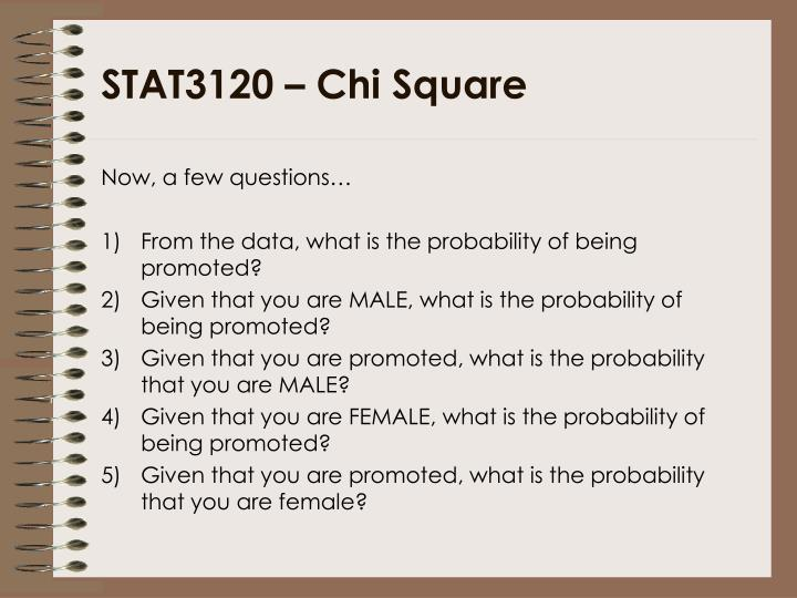 STAT3120 – Chi Square