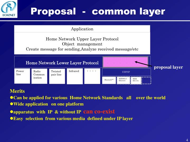 Proposal  -  common layer