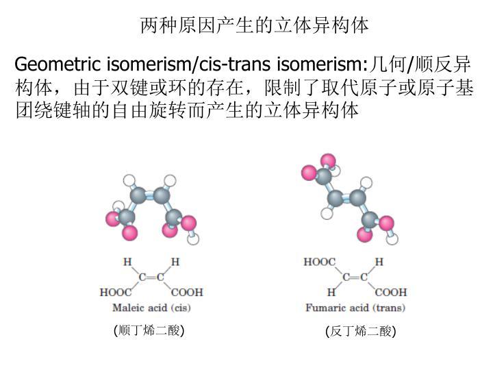 两种原因产生的立体异构体