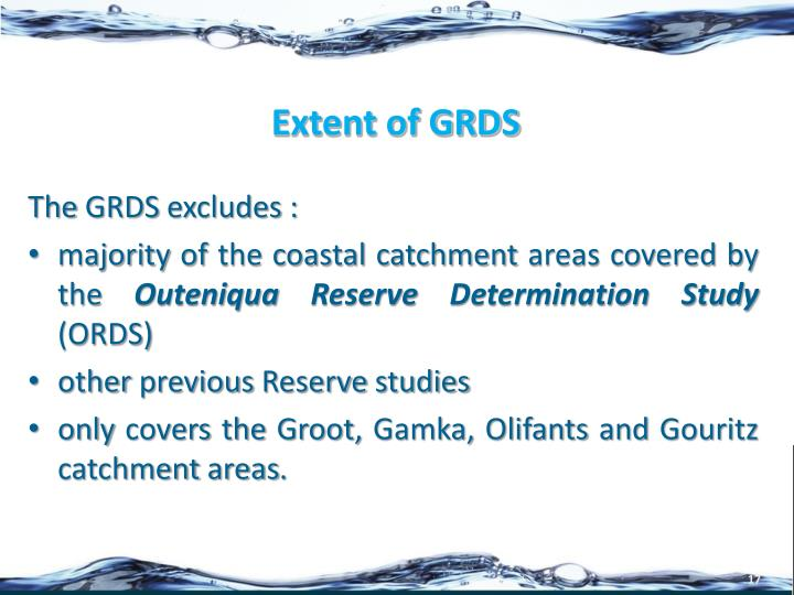 Extent of GRDS