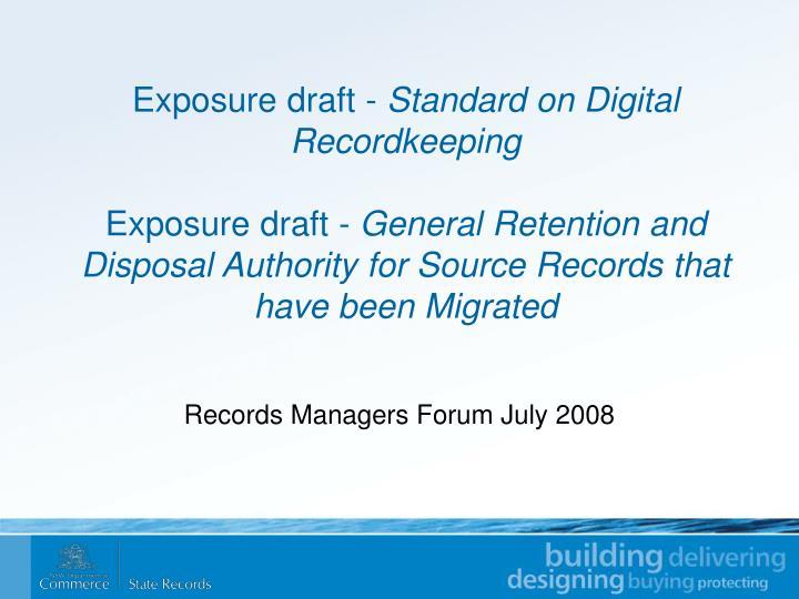 Exposure draft -