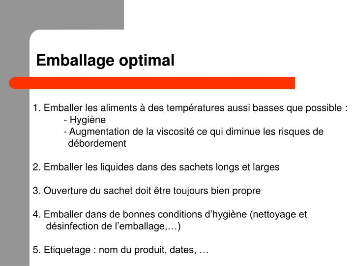 Emballage optimal