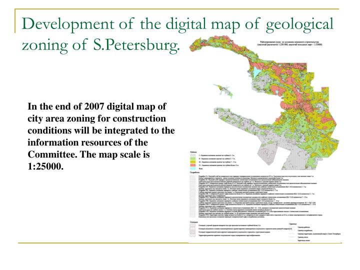 Development of the digital map of geological zoning of s petersburg1