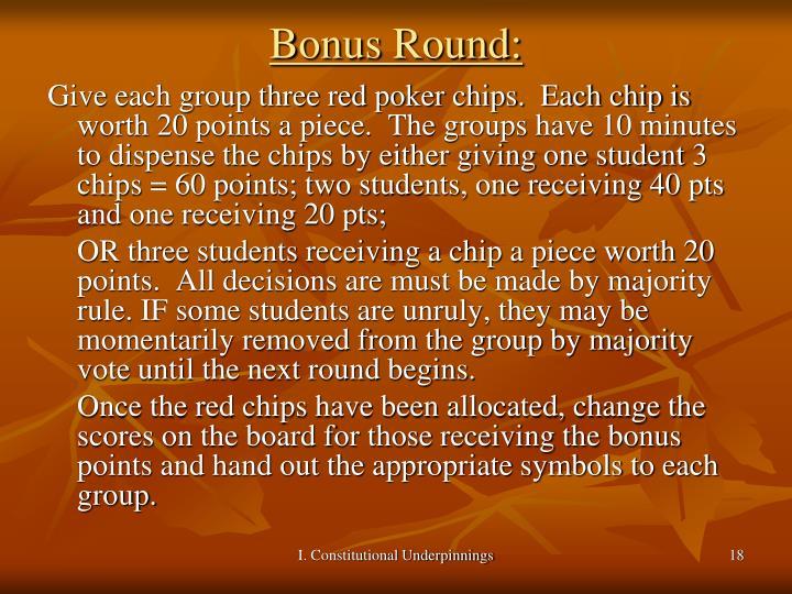 Bonus Round: