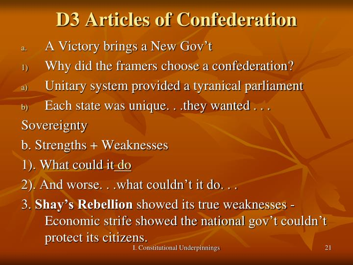D3 Articles of Confederation
