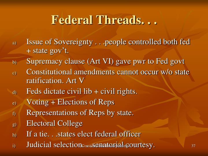 Federal Threads. . .