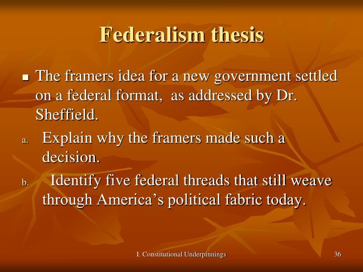 Federalism thesis