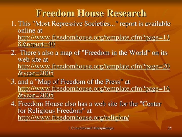 Freedom House Research