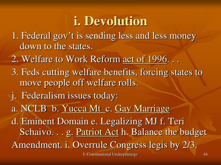 i. Devolution