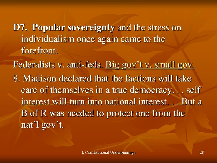 D7.  Popular sovereignty