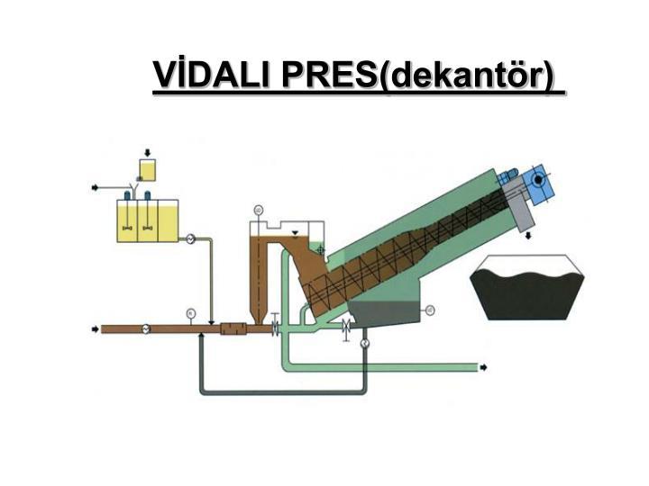 VİDALI PRES(dekantör)