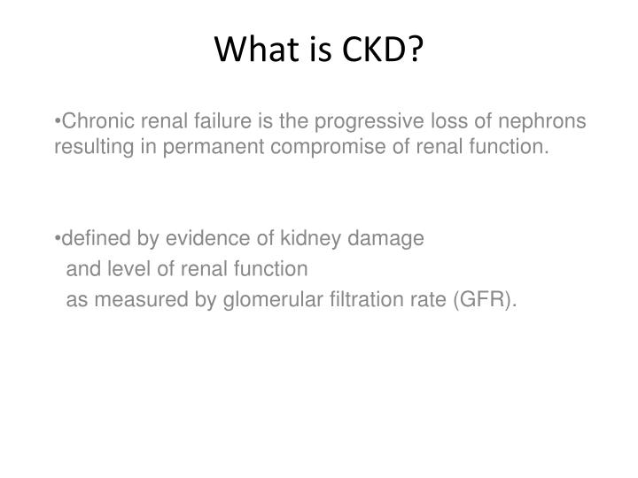 What is ckd