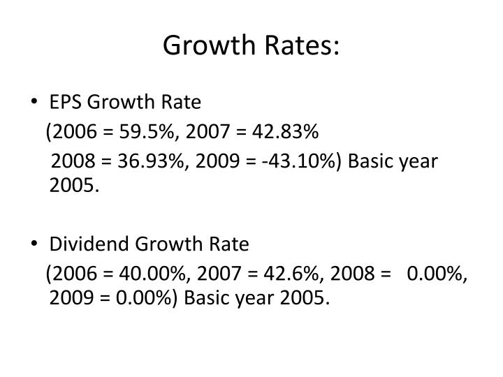 Growth Rates: