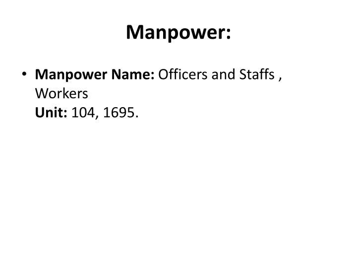 Manpower: