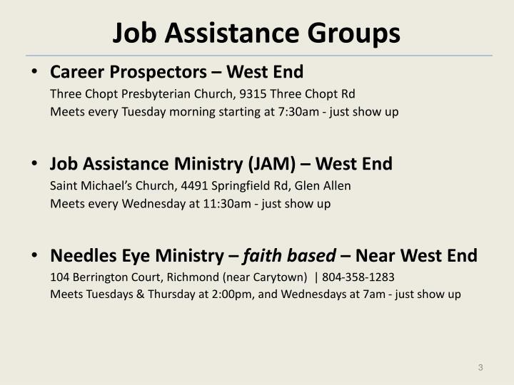 Job Assistance Groups