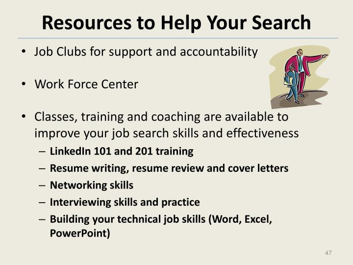 Resources to Help Your Search