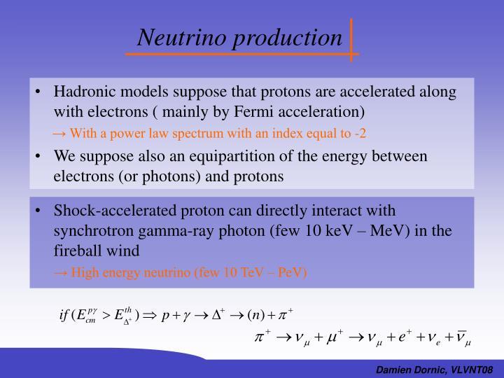 Neutrino production