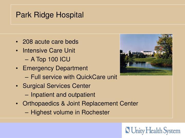 208 acute care beds