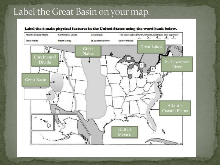 Label The Great Basin On Your Map