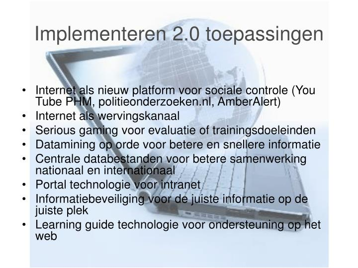 Implementeren 2.0 toepassingen