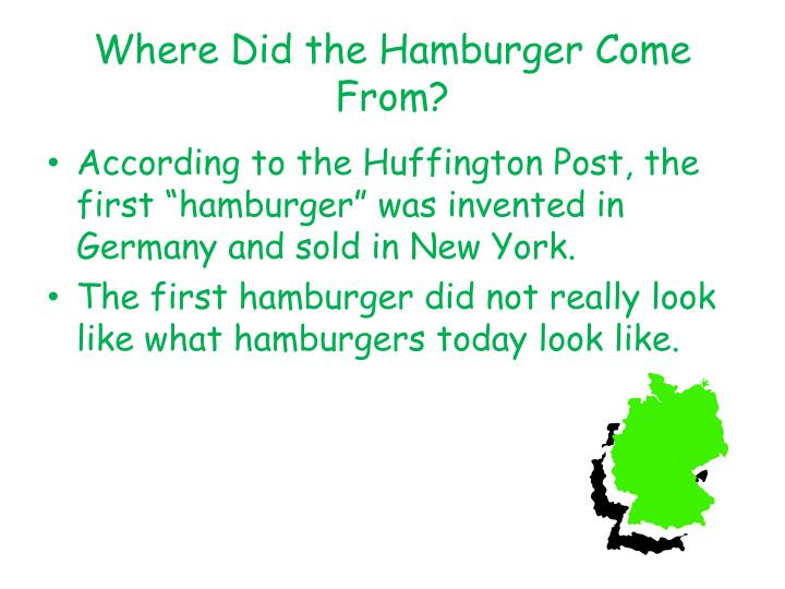 Where Did the Hamburger Come From?