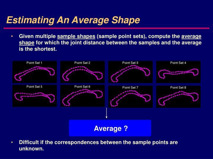Estimating An Average Shape