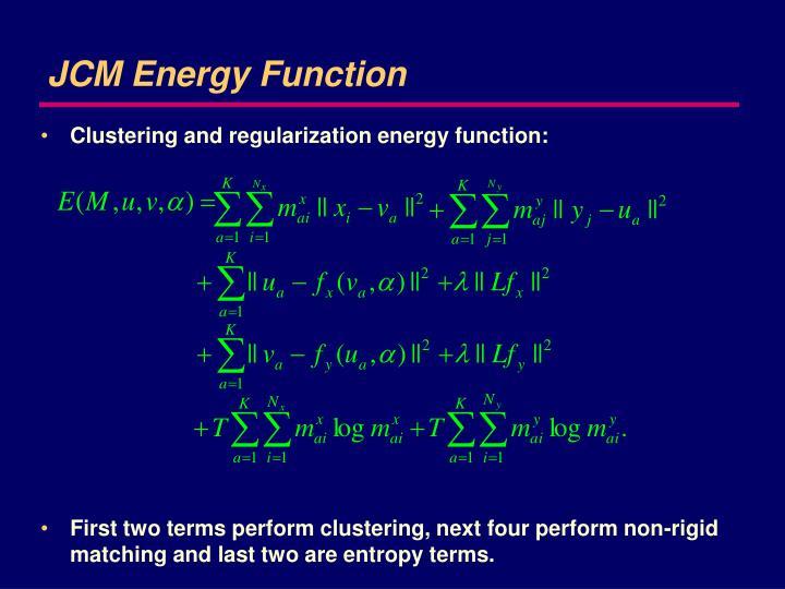 JCM Energy Function