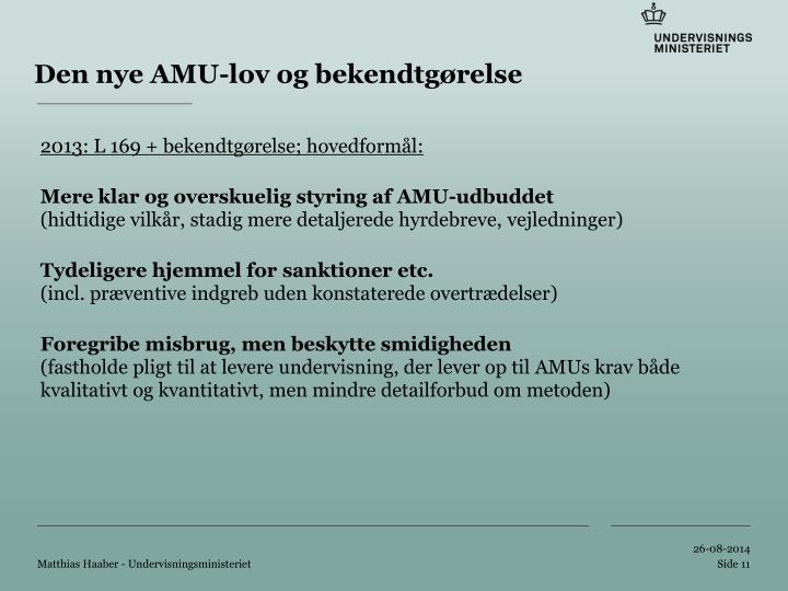 Den nye AMU-lov og bekendtgørelse