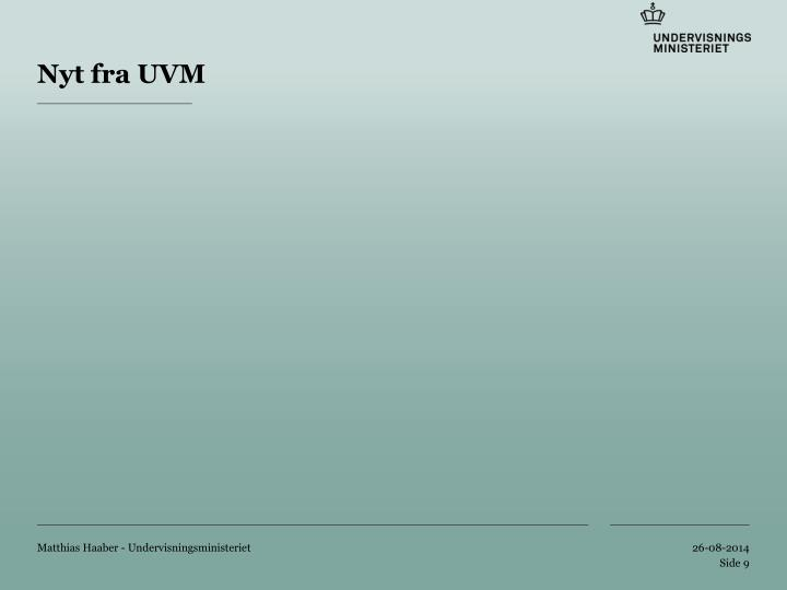 Nyt fra UVM