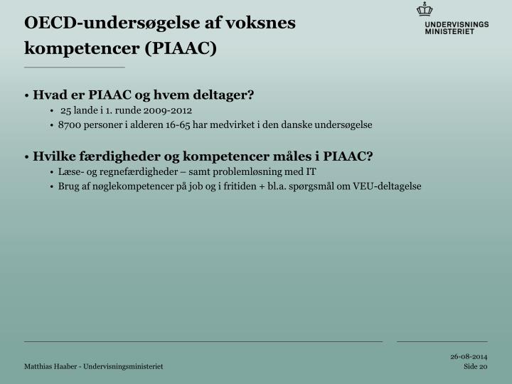 OECD-undersøgelse af voksnes kompetencer (PIAAC)