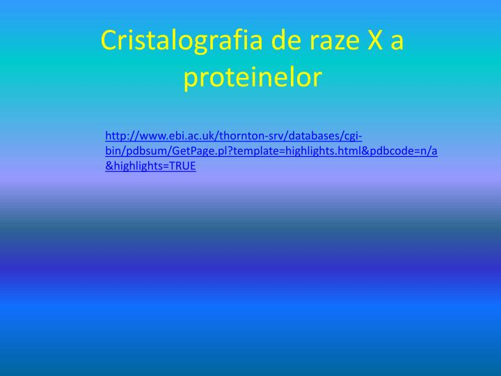 Cristalografia de raze X a proteinelor