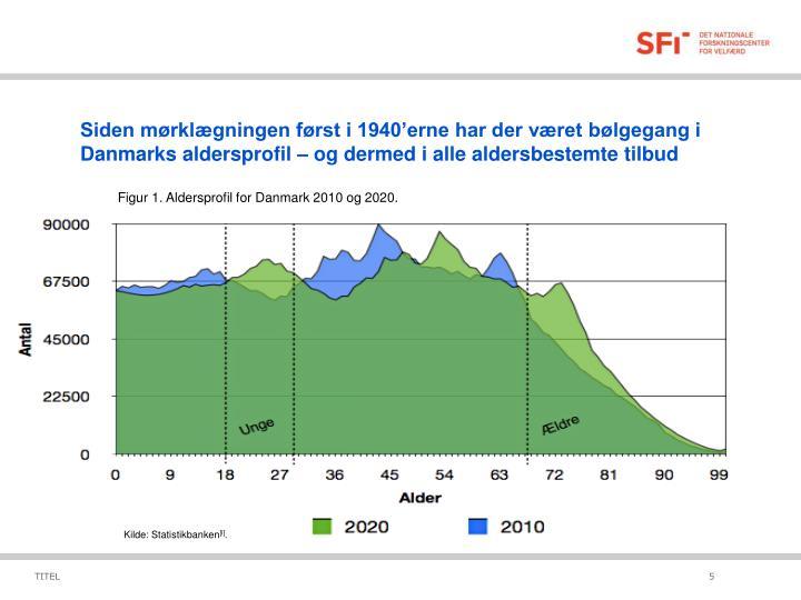 Siden mørklægningen først i 1940'erne har der været bølgegang i Danmarks aldersprofil – og dermed i alle aldersbestemte tilbud