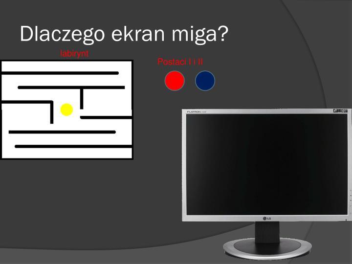 Dlaczego ekran miga?