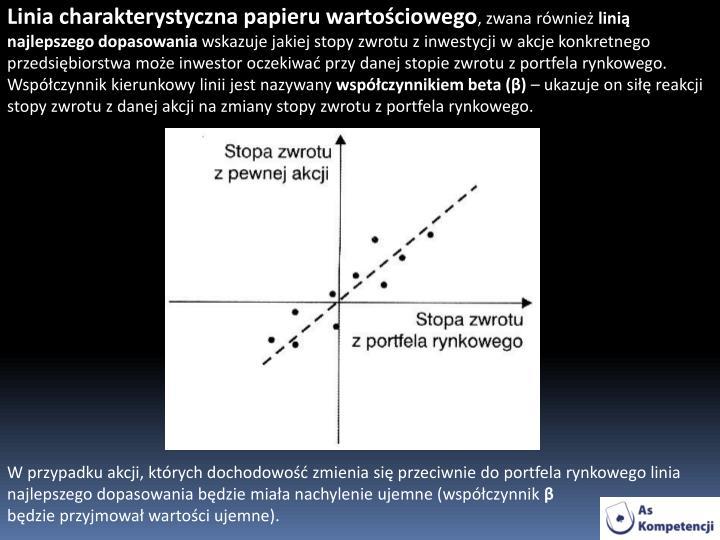 Linia charakterystyczna papieru wartościowego