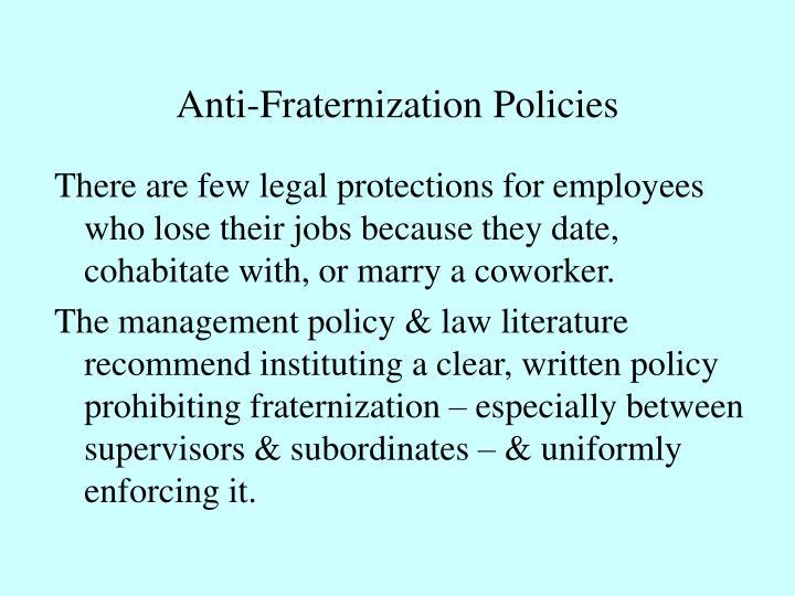 Anti-Fraternization Policies