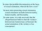 in states that prohibit discrimination on the basis of sexual orientation what do the laws cover