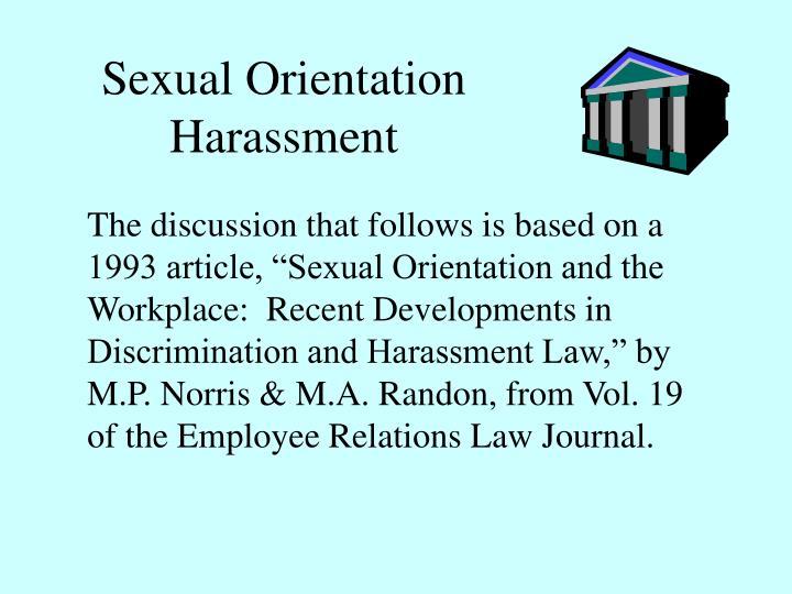 Sexual Orientation Harassment