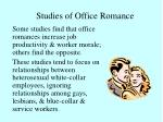 studies of office romance