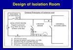 design of isolation room