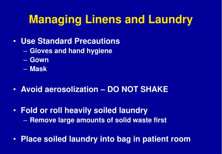 Managing Linens and Laundry
