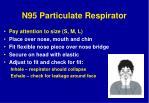 n95 particulate respirator