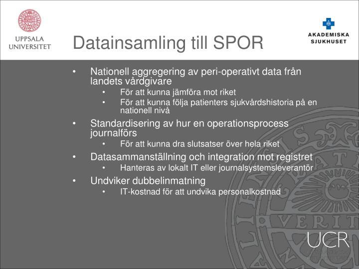 Datainsamling till SPOR