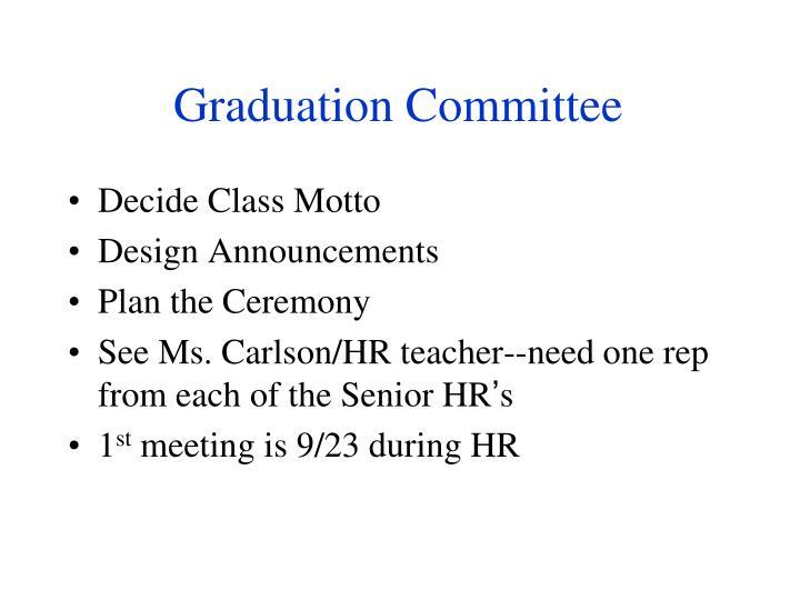 Graduation Committee