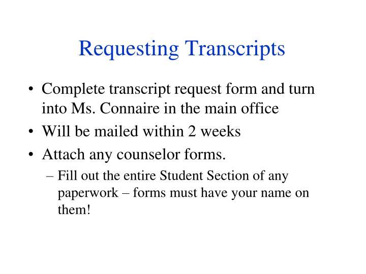 Requesting Transcripts