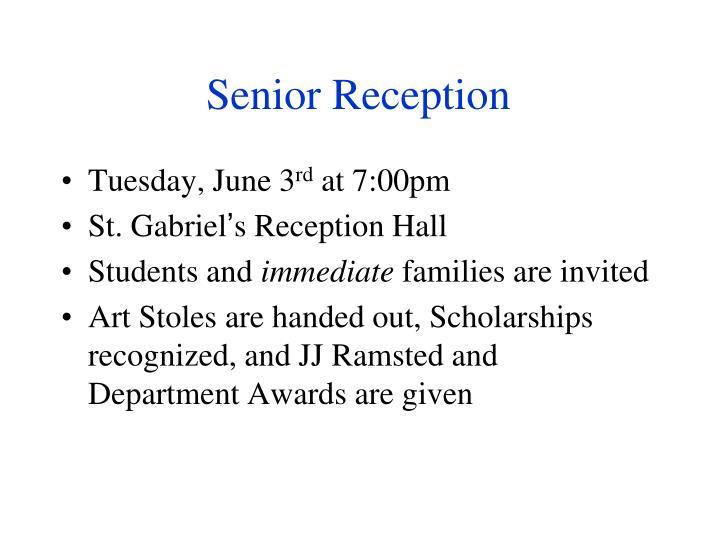 Senior Reception