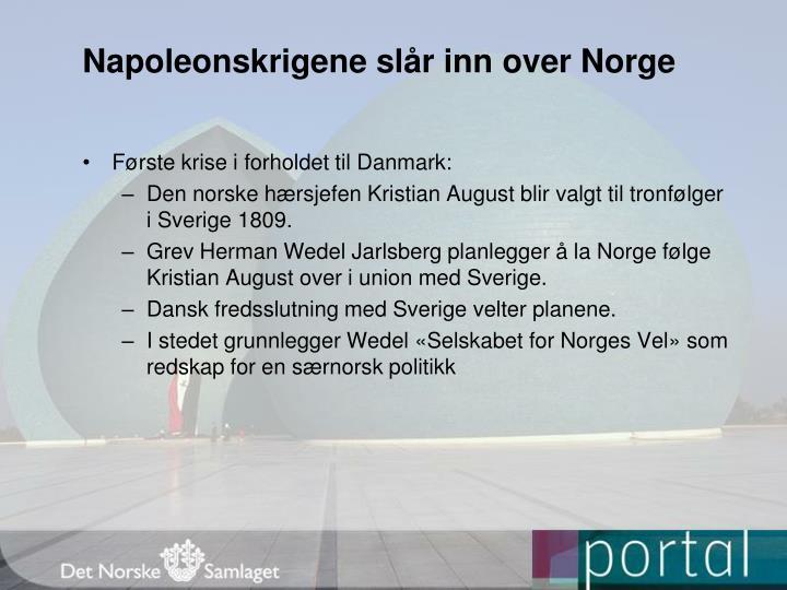 Napoleonskrigene slår inn over Norge